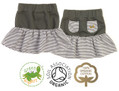 Girls Rara Skirt Grey Stripe