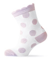 Melton Organic Cotton Girls Pink Polka Dot Socks