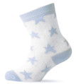 Melton Organic Cotton Boys Blue Stars Socks