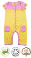 Polly Pintuck Short Sleeved Girls Baby Grow