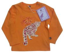 Animal Tails 'Snow Leopard' organic girls t-shirt