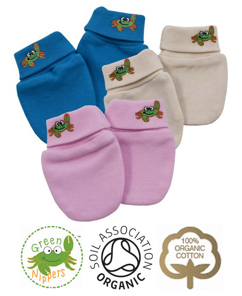 Newborn Scratch Mittens Organic Cotton Accessories By