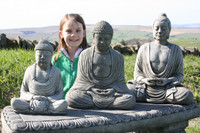 Best Set of 3 Big Buddha Garden Oriental Statues - Ornaments