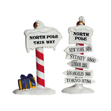 Lemax Village Collection North Pole Signs, Set Of 2 #64455