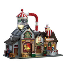 Lemax Village Collection Bell's Gourmet Popcorn Factory #75188