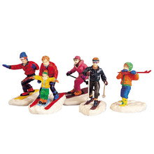 Lemax Village Collection Winter Fun Figurines, Set Of 5 #92357