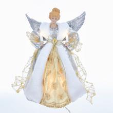 Kurt Adler 10L Silver & Gold Angel Treetopper #UL1998