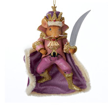 Kurt Adler 6in Nutcracker Ballet Mouse King Ornament #C7173