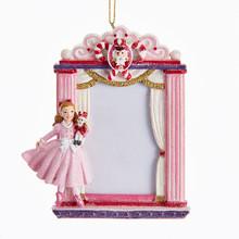 Kurt Adler 4.5in Nutcracker Ballet Clara Picture Frame Ornament #C7613