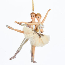 Kurt Adler 6in Ballet Couple Ornament #TD1546
