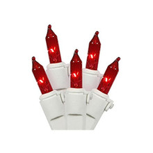 100LT UL Ultra Brite Red, White Wire Light Set