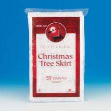 58in Sparkling Snow Blanket Christmas Tree Skirt