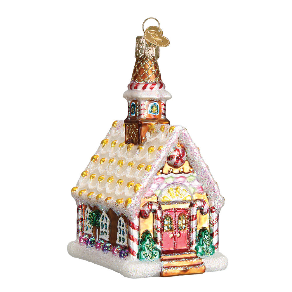 Old World Christmas Gingerbread Church Ornament 20077