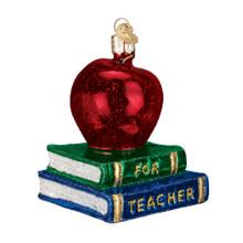 Old World Christmas Teacher's Apple Ornament #36128