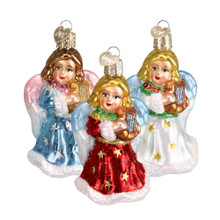 Old World Christmas Angel with Lyre Ornament, 3 Assorted #10157