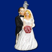 Old World Christmas Bridal Couple Ornament #10163
