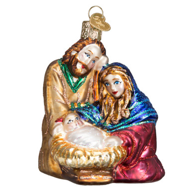 product description old world christmas holy family - Merck Family Old World Christmas
