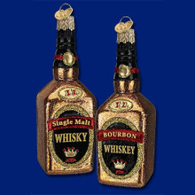 Old World Christmas Whiskey Ornament, 2 Assorted #32147