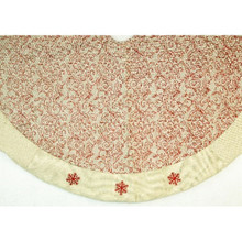 48in Cream Tree Skirt with Red Design