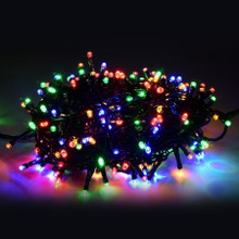 100 LED String Light in Multi, Green Wire