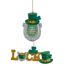 Kurt Adler Irish Luck Horseshoe Ornament #A1730