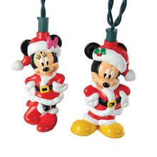 Kurt Adler UL 10L Mickey & Minnie Mouse Christmas Light Set #DN9161