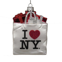 Kurt Adler I Love New York Shopping Bag Ornament #NY4117