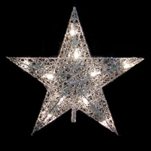 Kurt Adler UL 10L Silver Wire Star Treetop #UL0131S