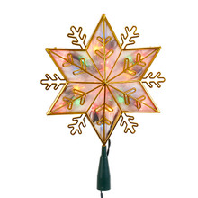 Kurt Adler UL 20L Gold Star Multi Color Treetop #UL0159M