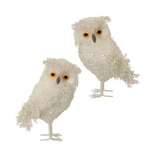 RAZ Small Iced Owl Figurine, Set of 2 #3553353