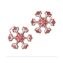 RAZ 8in Gingerbread Candy Snowflake, Set of 2 #3716136