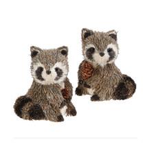 RAZ 4.5in Raccoon Figurine, Set of 2 #3721928