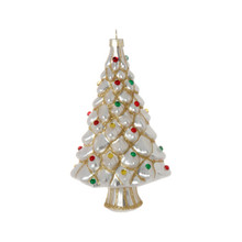 RAZ Silver Glass Tree Ornament #3752894