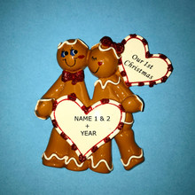 Rudolph & Me Gingerbread Love Personalized Ornament #939