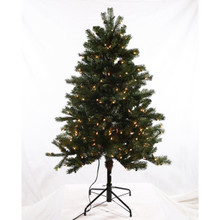 4.5ft Pre-Lit 'Real Feel' Colorado Spruce Tree in Clear