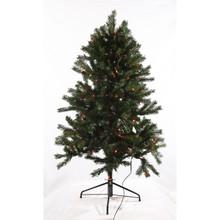 4.5ft Pre-Lit 'Real Feel' Colorado Spruce Tree in Multi