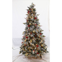 7ft Pre-Lit Flocked Fairfield Tree in Clear