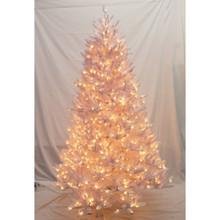 7.5ft Pre-Lit Glenbrook White Fir Tree in Clear