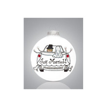 Heart Gifts by Teresa Just Married Car Ornament #2006