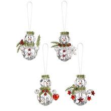 Kissing Krystals Teeny Mistletoe Snowman Ornament #KK319