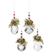 Kissing Krystals Mistletoe Beaded Ornament #KK356