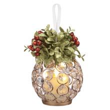 Kissing Krystals Gold Gem Mistletoe LED Ornament #KKLL02