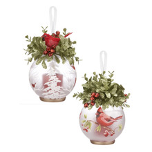 Kissing Krystals Mistletoe Cardinal LED Ornament #KKLL06