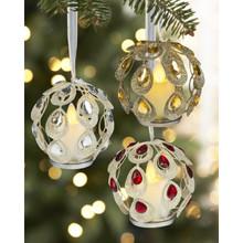 Kissing Krystals Glitter Teardrop Gem LED Ornament #LLX1087