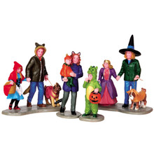 Lemax Village Collection Trick Or Treating Fun, Set Of 4 #42217