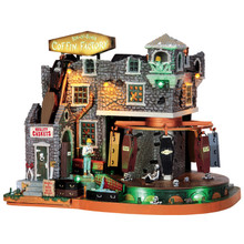 Lemax Village Collection Box-Of-Bones Coffin Factory #45669