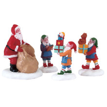Lemax Village Collection Present Procession, Set Of 4 #72553