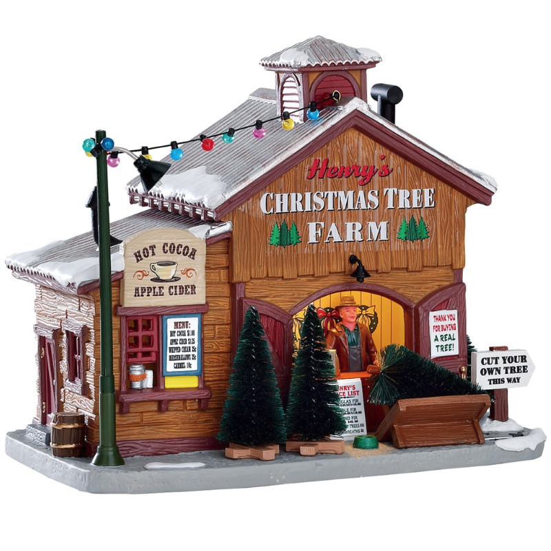 Lemax Christmas.Lemax Village Collection Henry S Christmas Tree Farm 75257