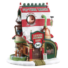 Lemax Village Collection Reindeer Grooming Barn #75293