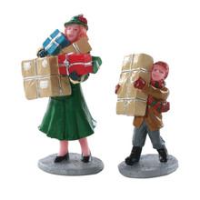 Lemax Village Collection Christmas Rush, Set Of 2 #82610